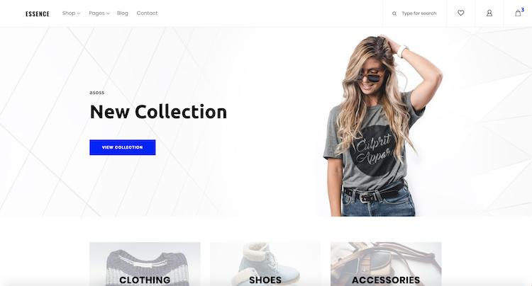 Essence - Free E-Commerce Template