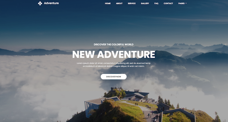 Adventure - Free Booking & Travel Template