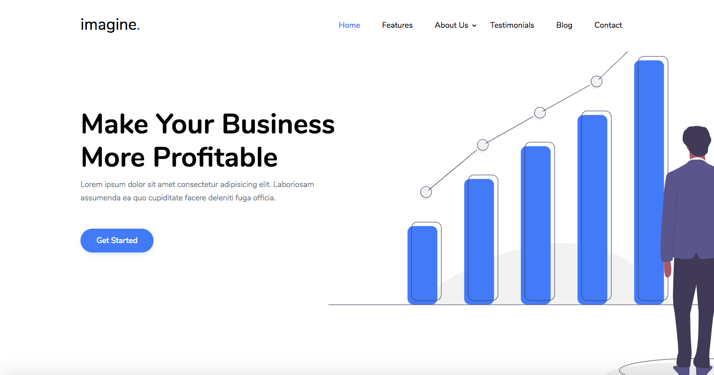 Imagine - Free One Page Business Template