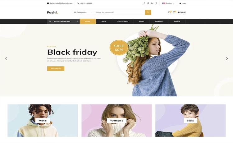 Fashi - Free Bootstrap E-Commerce Template