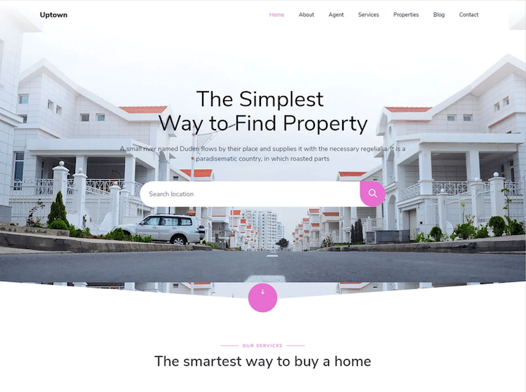 Uptown - Free Real Estate Management Template