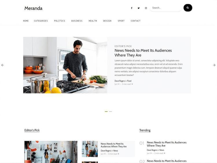 Meranda - Free Bootstrap 4 Blog & Magazine Template