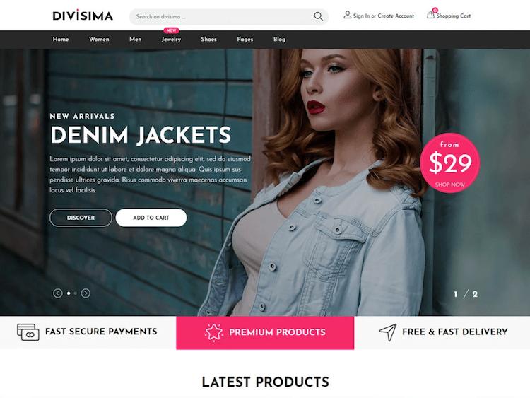 Divisima - Free Bootstrap 4 E-Commerce Template