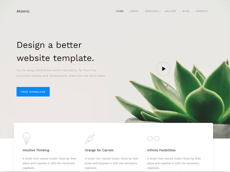 Atomic - Free Bootstrap 4 Business Website Template