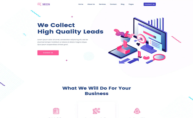 Seos - Free Seo Company Website Template