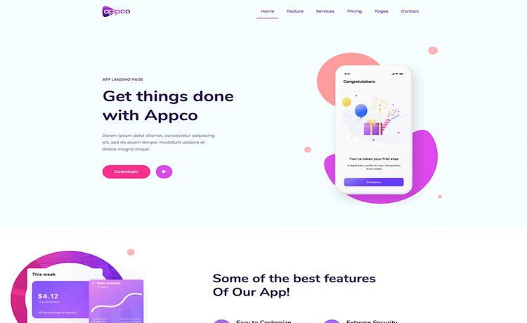Appco - Free App Landing Page Template