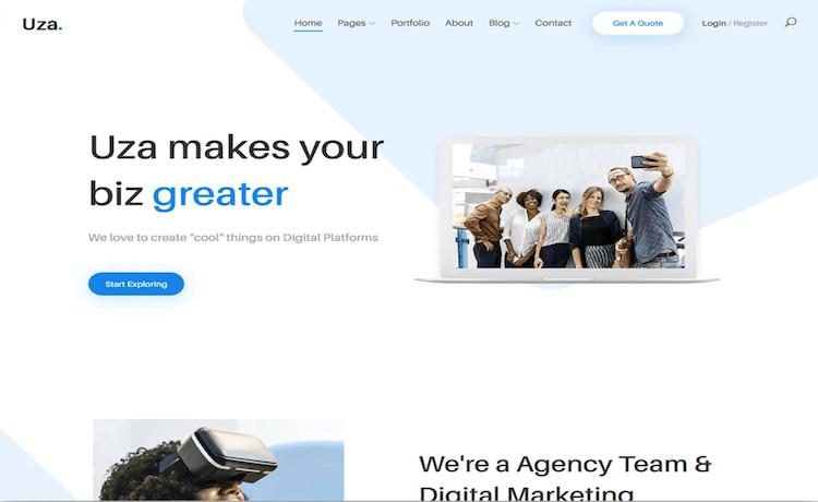 Uza - Free Business Website Template