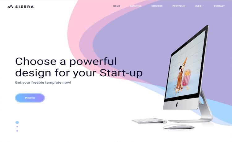 Sierra - Free Startup Website Template