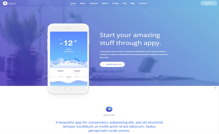 Appy - Free App Landing Page Template