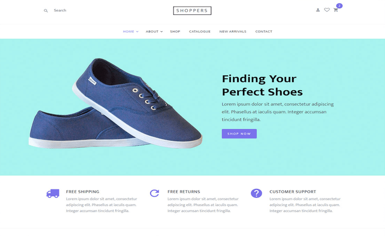 Shoppers - Free E-Commerce Website Template