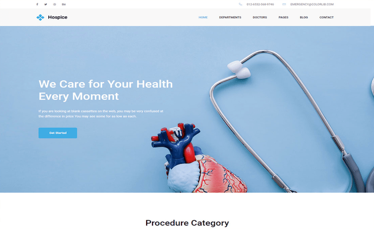 Hospice - Free Medical Clinic Website Template
