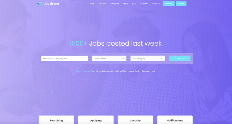 Job Listing - Free Bootstrap 4 Template